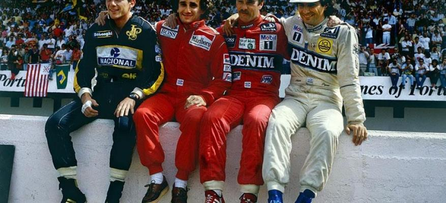 Senna,Prost,Mansell,Piquet