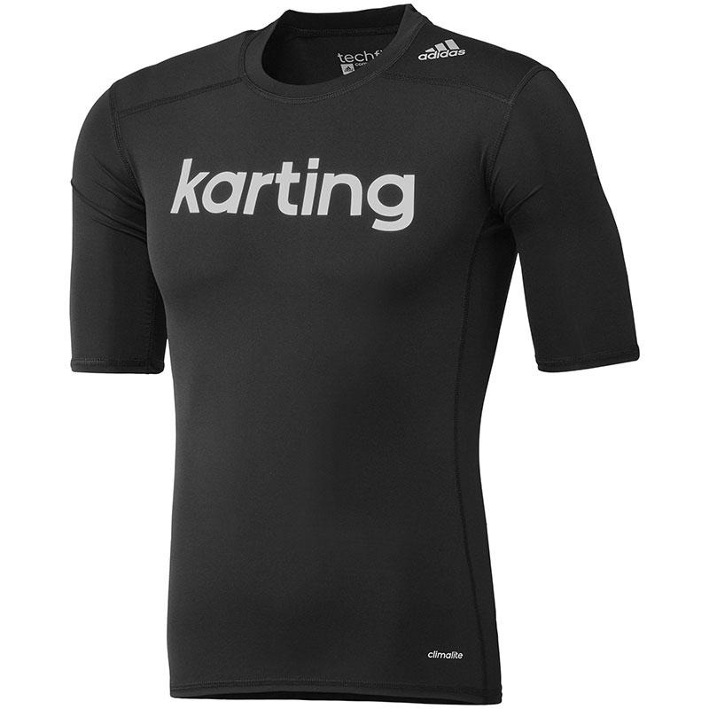 ADIDAS TECHFIT KARTING UNDERWEAR TEE BLACK